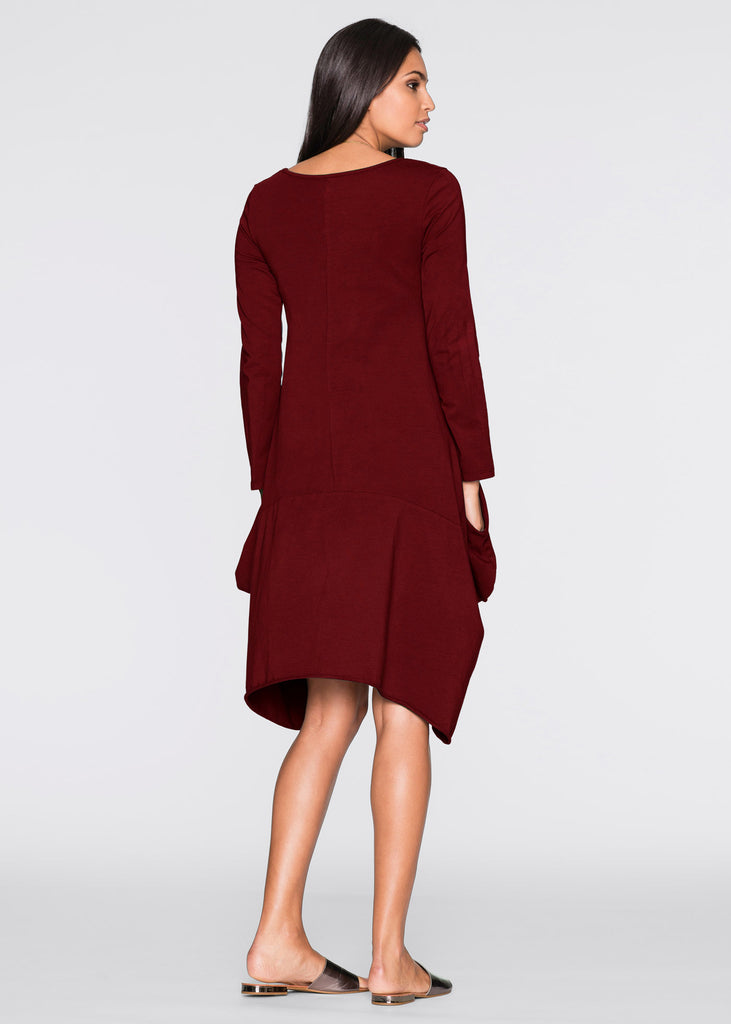 Long Sleeves Dress Formal Dress With Pockets FP3504