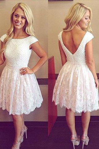 white homecoming dress,short best homecoming dress,affordable dresses for homecoming, 15413