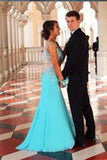 New Top Mermaid Straps Sleeveless Diamond Blue Long Prom Gown Party Dresses uk PM989