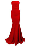 Sleeveless Strapless Bra Mermaid Floor Length Party Dress with Zipper PH220