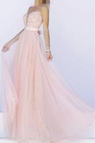 Pink Prom Dress Simple Lace backless prom dresses long evening Formal Gown PH115