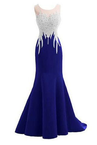 Crystal Mermaid Sexy Backless Sparkly Long Prom Evening Dresses PH236