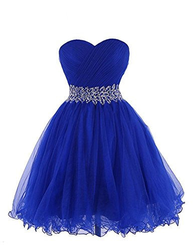 Sweetheart Short Blue Bridesmaid Dresses Homecoming Dresses PM769