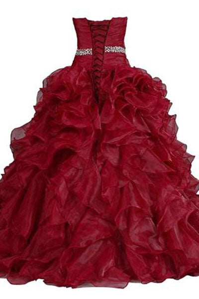 Pretty Ball Gown Quinceanera Dress Ruffle Prom Dresses PH227