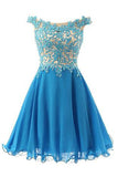 Pretty Straps Lace Party Dresses,Bodice Party Dresses,Short Applique Prom Dresses uk PM775