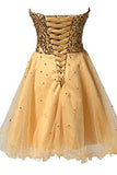 Short Tullle Sequins Homecoming Dress Prom Gown SD032