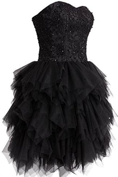 Mini Princess Strapless Ruffled Homecoming Cocktail Dress D0237
