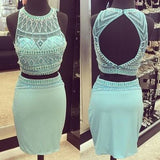 Charming Short Two Piece Prom Dresses, Two pieces Homecoming Dresses PM327