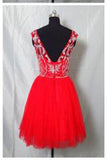 Real Made Beaded Back Zipper Short Prom Dresses New Arrival Tulle Homecoming Dresses uk PM860