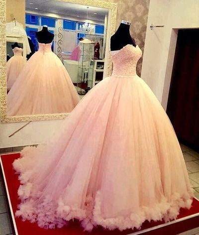 Elegant Prom Dress,A-Line Prom Dress, Organza Prom Dress,Romantic Wedding dress F246