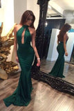Long high neck mermaid sexy prom dresses,backless prom dresses,dresses for prom,PD190468