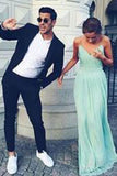 Charming Green Chiffon Backless Sexy Sweetheart Prom Dress,Long Evening Dresses uk PM975