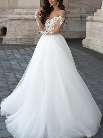 products/A_line_Long_Sleeve_Tulle_White_Lace_Appliques_Wedding_Dresses_Long_Wedding_Gowns_PW561.jpg