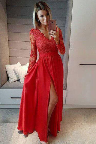 products/A_line_Navy_Blue_Long_Sleeve_Sweetheart_Prom_Dresses_Slit_Long_Evening_Dresses_PW525-4.jpg