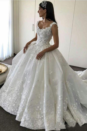 Ball Gown Backless Lace Appliques Wedding Dresses Sweetheart Bridal Dresses uk PW560