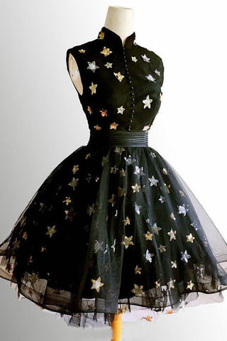 products/Chic_A_Line_High_Neck_Black_Straps_Short_Prom_Dresses_Cute_Homecoming_Dresses_H1039.jpg