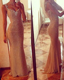 New Style Prom Dress With Straps Sequin Sweetheart Long Mermaid Prom Dresses uk PH92