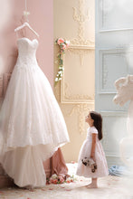 Charming Sweetheart Lace Appliques High-Low Tulle A-Line Wedding Gown PM116