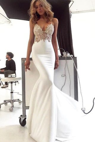 products/Deep_V_Neck_Spaghetti_Straps_Ivory_Lace_Backless_Mermaid_Prom_Dress_Wedding_Dresses_H1137-2.jpg