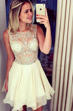 A Line Short Prom Dresses,Beading Homecoming Dresses,Cocktail Dresses