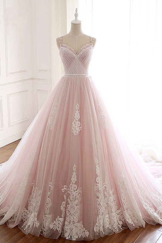 b6f041e7403 Elegant Pink Sweetheart Tulle Lace Appliques Lace up Prom Evening Dresses  PW648