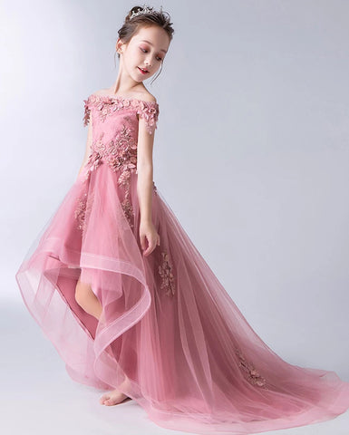 products/Gorgeous_Pink_Off_the_Shoulder_With_Lace_Appliques_High_Low_Tulle_Flower_Girl_Dresses_FG1007-4.jpg