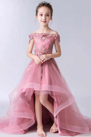 products/Gorgeous_Pink_Off_the_Shoulder_With_Lace_Appliques_High_Low_Tulle_Flower_Girl_Dresses_FG1007.jpg