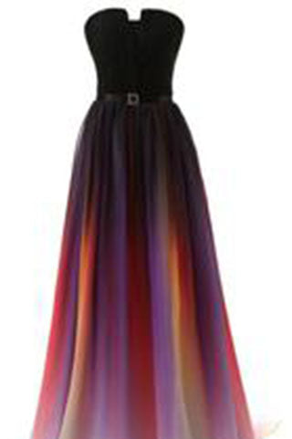 Ombre New Simple Sweetheart Navy Blue Gradient Chiffon Skirt Long Bridesmaid Dresses uk PM991