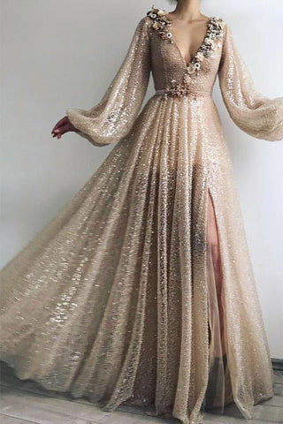products/Long_Sleeve_Sequin_V_Neck_Prom_Dresses_with_Split_Handmade_Flowers_Evening_Dress_PW800-1.jpg