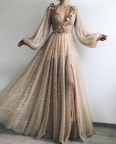 products/Long_Sleeve_Sequin_V_Neck_Prom_Dresses_with_Split_Handmade_Flowers_Evening_Dress_PW800.jpg