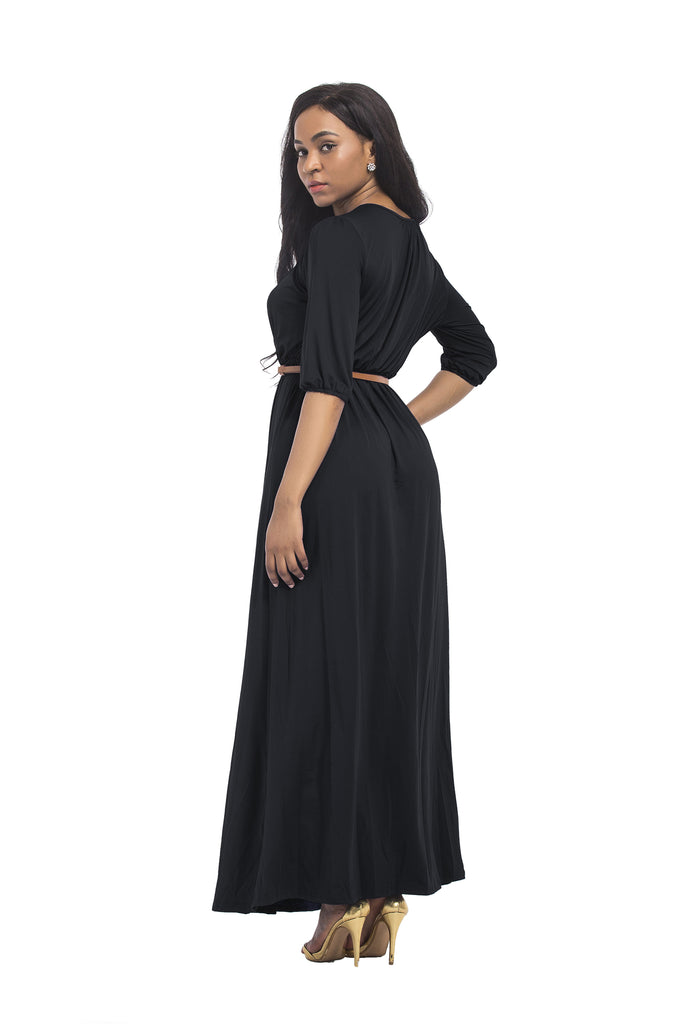 Sexy Short Sleeve Long Dress Party Dress FP3313