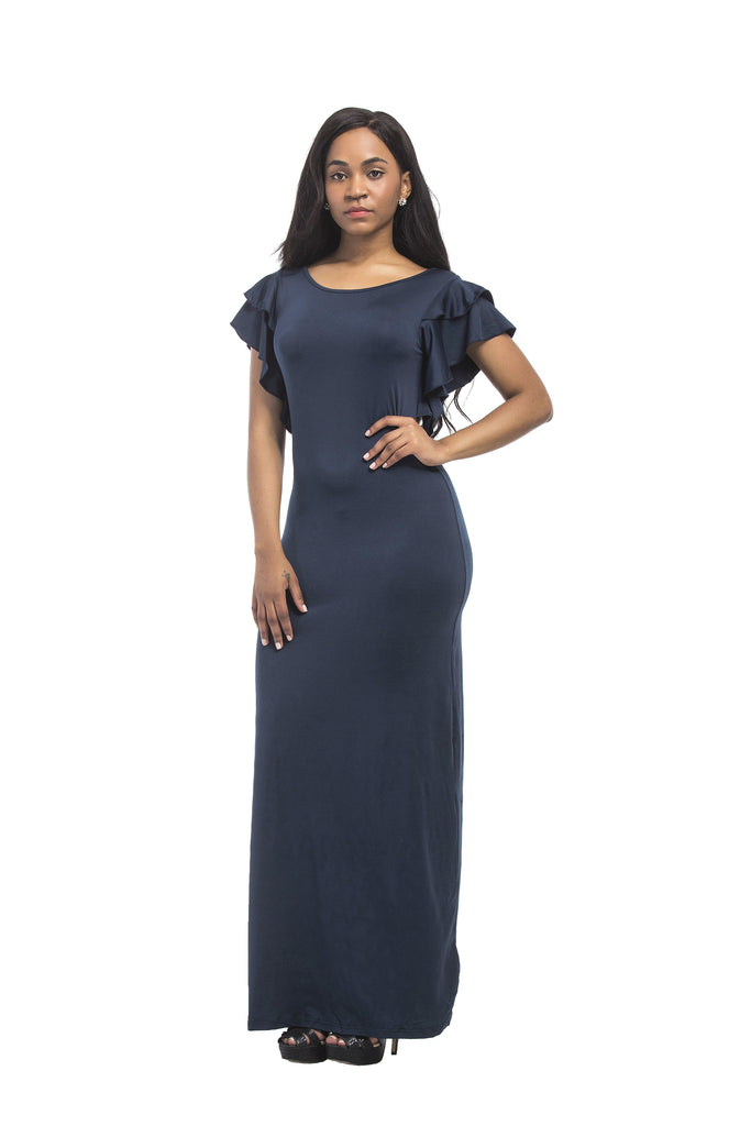 Sexy Short Sleeve Long Dress Party Dress FP3315