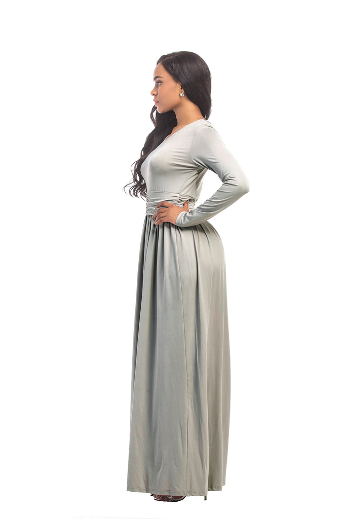 Fashionable Long Sleeve Long Dress Prom Dress FP3121