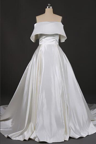 Stunning Off the Shoulder Strapless Ball Gown Long Wedding Dresses, Wedding Gowns W1130