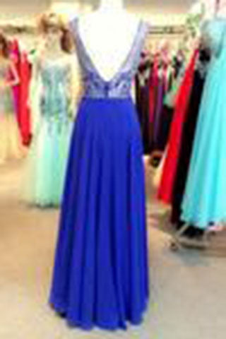 Elegant Prom Dresses Scoop A Line Floor Length beading chiffon prom gowns,long evening dress PM853