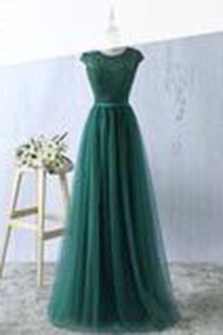 Sexy Green Prom Dress,Tulle Prom Dresses ,Long Evening Dress,Green Formal Dress,Prom Dressses uk PW166