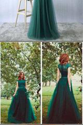 Sexy Prom Gownsgreen Prom Dresstulle Prom Dresses Long Evening