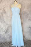 Simple Sweetheart Long Chiffon Prom Dresses Evening Dresses PM489