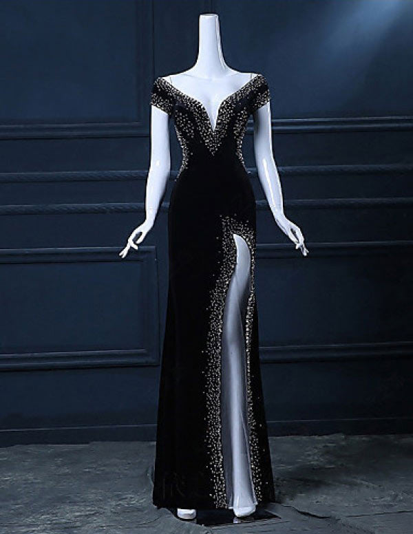 New Arrival Fantastic Beading Chiffon Floor Length Prom Dresses Evening Dresses PM566
