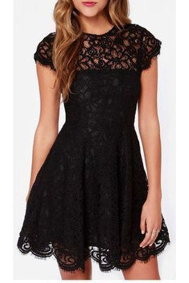Black Lace Homecoming Dress,Sweet 16 Dress,Cute Backless Party Dresses for Teens PM90