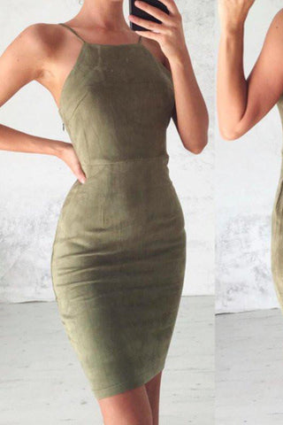 Sexy Mermaid Dark Green Short Prom Dress,Spaghetti Straps Lace up Homecoming Dresses PH430