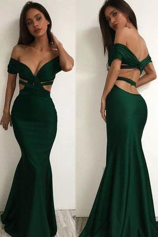 Off the shoulder Charming Long Charming Prom Dresses,Evening Dress,prom dresses uk PM856
