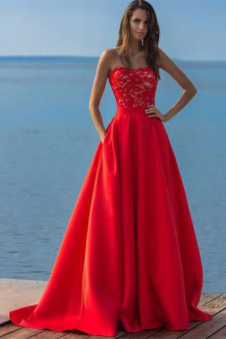 Charming 2017 New Long Elegant Prom Dress,Strapless Evening Dresses,Prom Dresses uk PM744