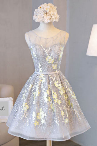 Beautiful Prom Dresses,A line Short Cute Homecoming Dress,Graduation Dresses PM121