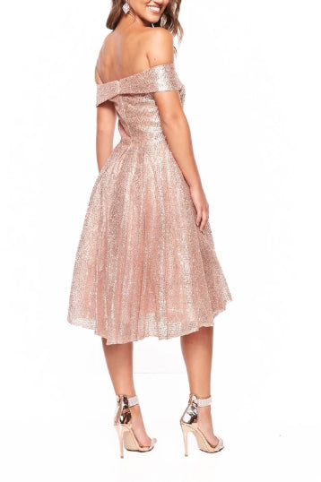 Elegant Off the Shoulder Pink Sequins Sweetheart Short Prom Dresses, Bridesmaid Dresses P1279