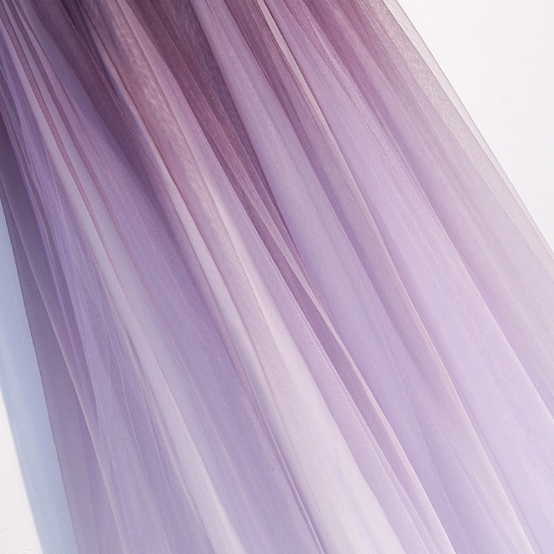 Unique A Line Ombre Purple Beading Prom Dresses with Lace up, Long Dance Dresses P1428