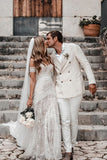 Gorgeous Sweetheart Low Back Lace Wedding Dresses Long Bridal Dresses W1258