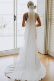 Spaghetti Straps Lace Country Wedding Dress Mermaid Backless Wedding Gowns W1112