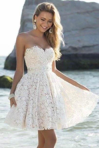 Gd240 Short Graduation Dress,Lace Sweetheart Graduation Dress,Dress for Graduation PW387