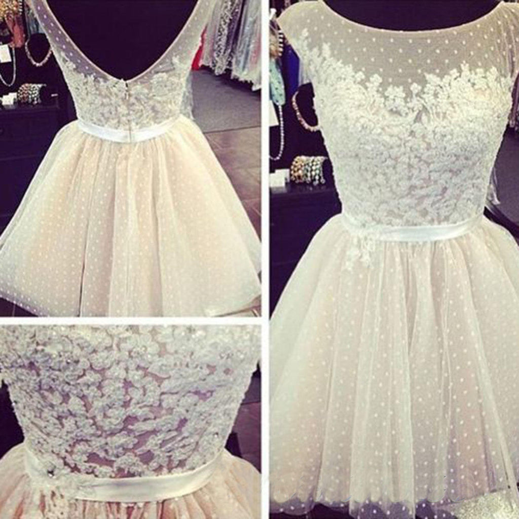 homecoming dress, short lace junior homecoming dress, dresses for girls, 14114